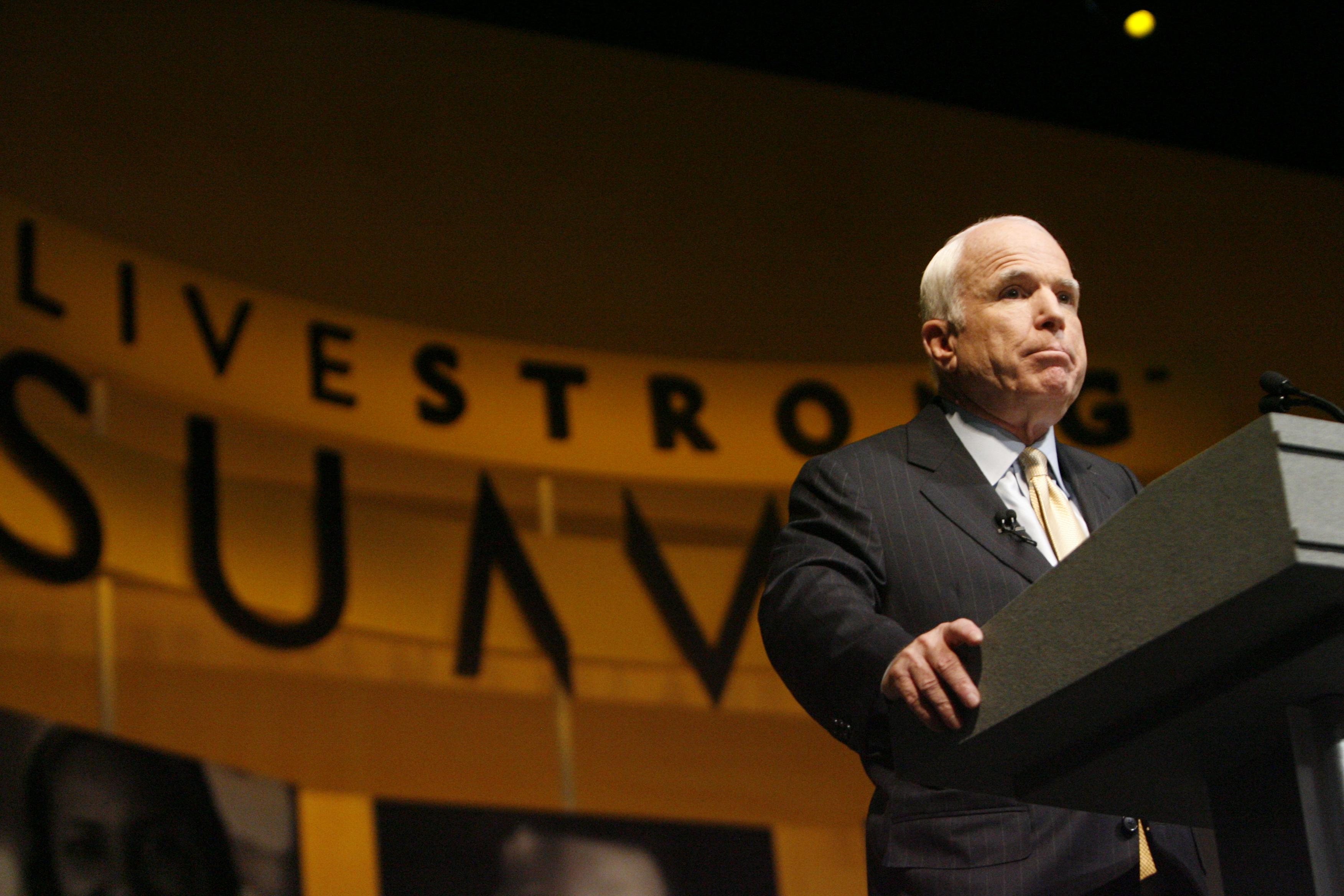 Senator McCain at LIVESTRONG Summit